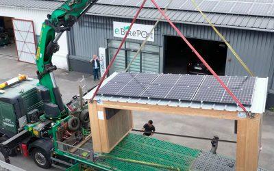eBikePort : Déplacement et installation sur le site du lac de Saint-Pardoux (87)