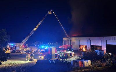 Important incendie dans notre hangar